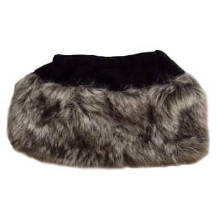 Wholesale womens grey faux fur well boot topper