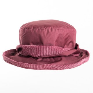Bulk ladies bush hat in maroon with cord under brim