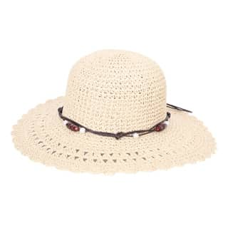 WOMEN'S WIDE BRIM STRAW