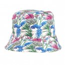 Wholesale bush hat with blue tropical patterns