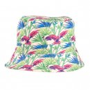 Wholesale bush hat with green tropical patterns