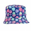 Wholesale bush hat with blue cheeseplant print