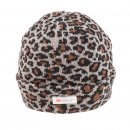 Wholesale ladies thinsulate ski hat with grey leopard print