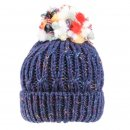 Wholesale ladies chunky acrylic knitted hat in navy