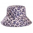 Wholesale ladies polyester dark leopard print sun hat