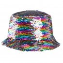 Wholesale adults flipable pastel patterened sequin bush hat