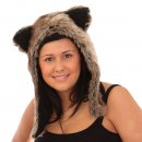 Wholesale Adults hood developed from faux fur in short size on model