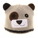 Wholesale grey babies knitted bear ski hat