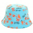 Wholesale blue and orange childs crab printed bush hat