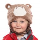 Wholesale babies light brown soft monkey hat on model