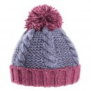 Wholesale boys cable knit bobble hat that is developed from acrylic