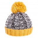 Boys chunky knit cable in yellow and grey available for bulk purchase