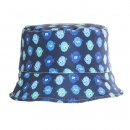 Wholesale blue bush hat for boys with puffer fish design