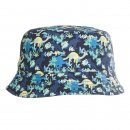 Wholesale boys cotton hat with dinosaur print in navy