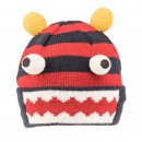 Wholesale kids unisex blue and orange monster novelty ski hat