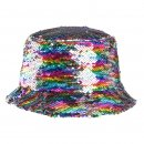 Wholesale kids flipable sequin bush hat in rainbow colours