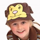 Wholesale children's animal bush hat on model