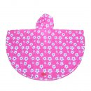 Wholesale pink flower poncho from the back