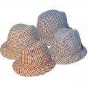 Assorted wholesale drop brim trilby in extra large size