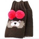 Wholesale grey fingerless bear gloves for girls