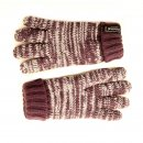 Wholesale kids knitted thinsulate marl effect gloves in purple