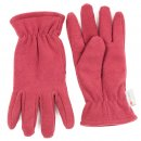 Wholesale fleece thinsulate glove with elastic cuff in red