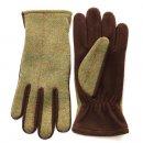 Wholesale mid green ladies tweed gloves