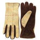Wholesale light green ladies tweed gloves