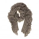 Wholesale ladies gabby grey check and frilly lightweight scarf