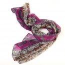 Wholesale lightweight purple diamond printed scarf