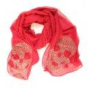 Wholesale ladies skye diamonte lightweight scarf in red