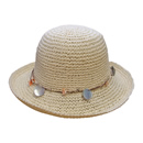 Bulk womens crushable white straw hat with hell band