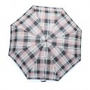 Wholesale unisex brown check umbrellas from top