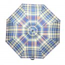 Wholesale unisex blue check umbrellas from top