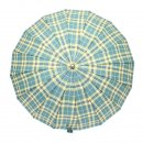 Wholesale unisex large green check umbrella from top