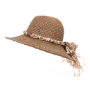 Wholesale brown crushable straw with cord band