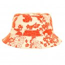 Wholesale ladies cotton hat with red flower print