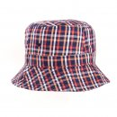 Wholesale mens checked bush hat in colour red