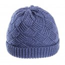 A1441 - LADIES KNITTED SKI HAT WITH FLEECE LINING