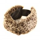 Wholesale Womens elasticated faux fur headband