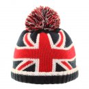 Wholesale babies union jack themed ski hats