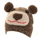 C340 - CHILD'S OWL & BEAR SKI HAT