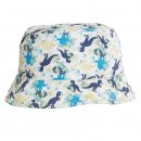 Wholesale boys cotton hat with dinosaur print in white