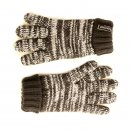 Wholesale kids knitted thinsulate marl effect gloves in blue