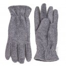Wholesale fleece thinsulate glove with elastic cuff in light grey