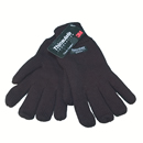 Wholesale thinsulate branded black knitted gloves