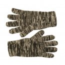 Wholesale mens marl effect knitted thinsulate gloves in black