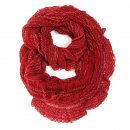 Wholesale red lace knitted lightweight scarf