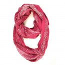 Wholesale ladies poppy and glitzy red infinity lightweight scarf