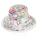 Wholesale ladies short brim/floral hat with flower detail